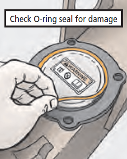 Check O-ring seal for damage