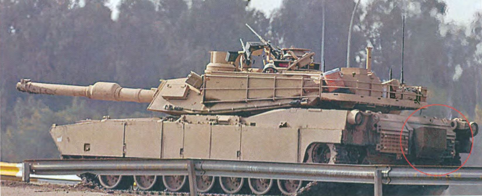 Image of M1 tank with exhaust deflector
