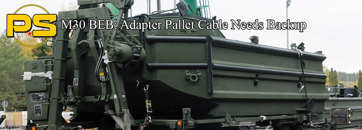 M30 BEB: Adapter Pallet Cable Needs Backup