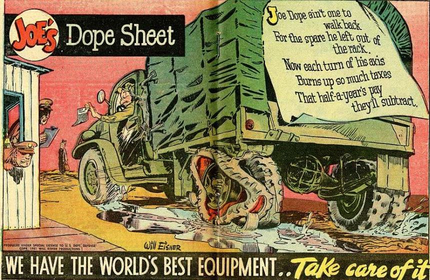 Copy of one of the original Dope Sheet posters created by Will Eisner.