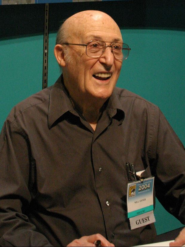 Picture of elder Will Eisner at San Diego Comic Con 2004