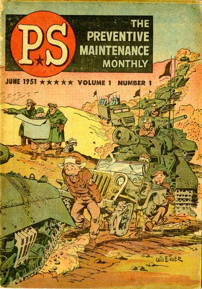 Cover of PS Magazine's first issue, June 1951